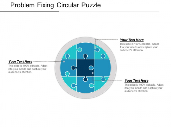 Problem Fixing Circular Puzzle Ppt PowerPoint Presentation Icon Visual Aids