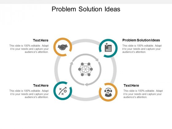 Problem Solution Ideas Ppt PowerPoint Presentation Layouts Shapes Cpb
