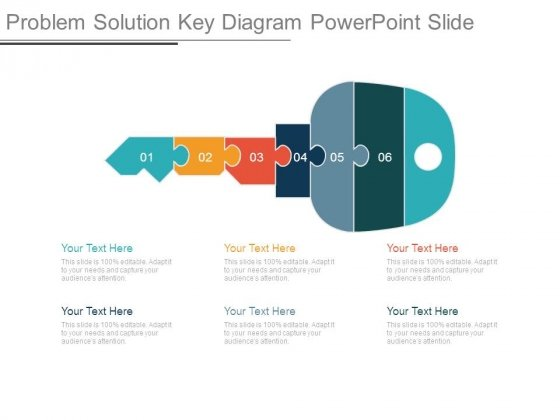 Problem Solution Key Diagram Powerpoint Slide