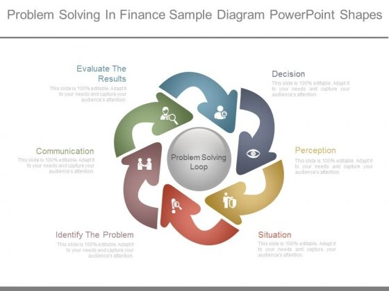 Problem Solving In Finance Sample Diagram Powerpoint Shapes