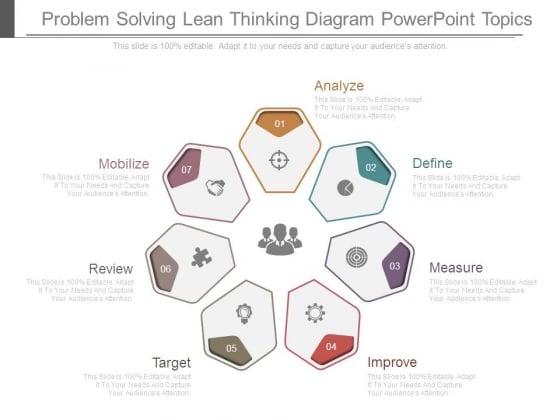 Problem Solving Lean Thinking Diagram Powerpoint Topics