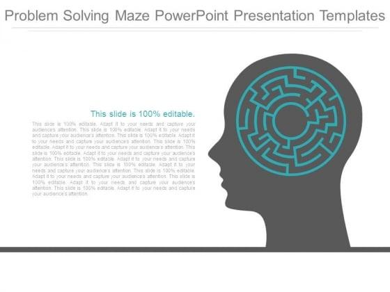 Problem Solving Maze Powerpoint Presentation Templates