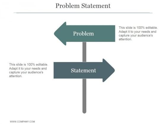 Problem Statement Ppt PowerPoint Presentation Slide