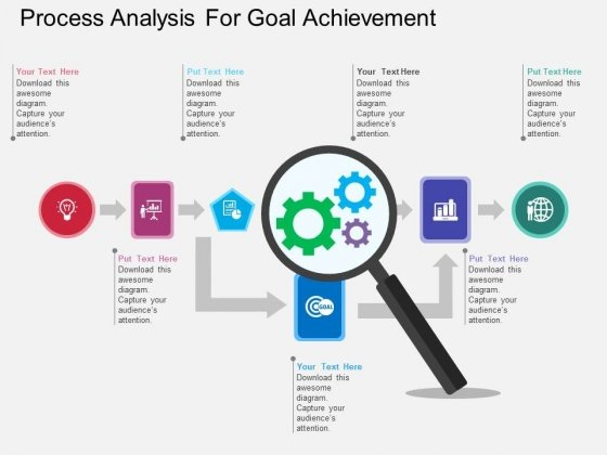 Process Analysis For Goal Achievement Powerpoint Template