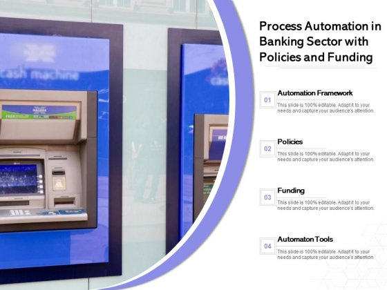 Process Automation In Banking Sector With Policies And Funding Ppt PowerPoint Presentation Model Layouts PDF