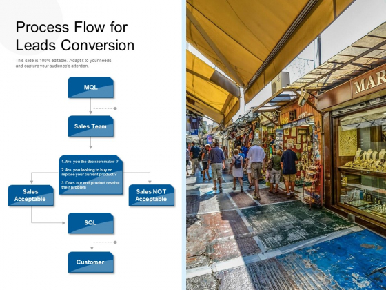 Process Flow For Leads Conversion Ppt PowerPoint Presentation Icon Show PDF