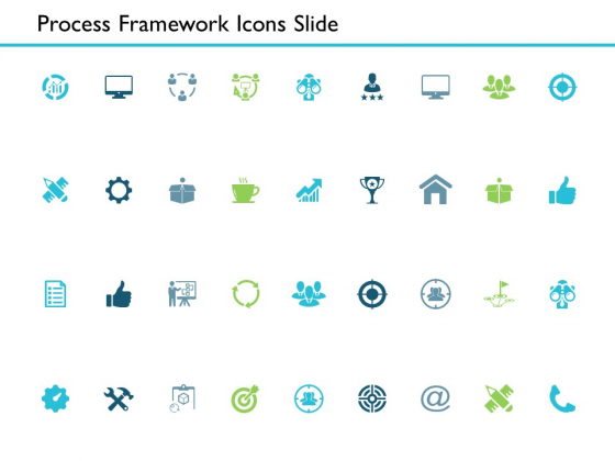 Process Framework Icons Slide Ppt PowerPoint Presentation File Vector