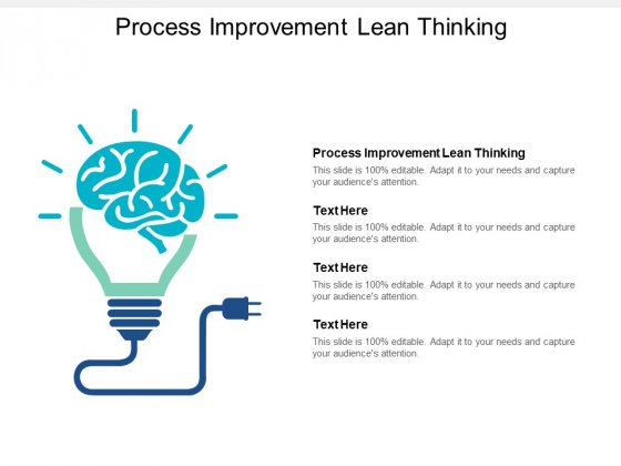 Process Improvement Lean Thinking Ppt PowerPoint Presentation Outline Show Cpb