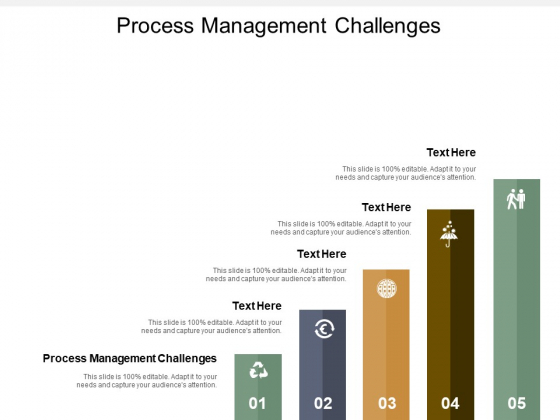 Process Management Challenges Ppt PowerPoint Presentation Slides Visuals Cpb