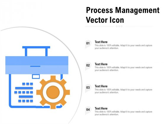 Process Management Vector Icon Ppt PowerPoint Presentation Ideas Icon PDF