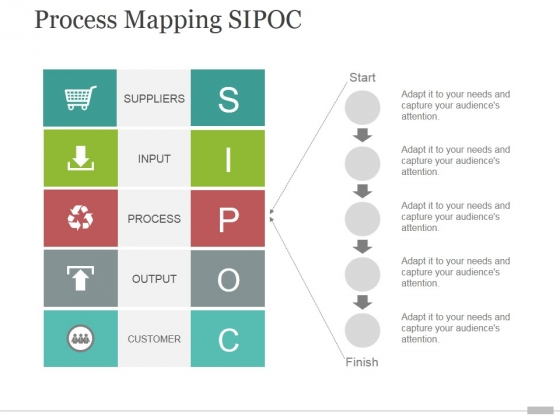 Process Mapping Sipoc Tamplate 1 Ppt PowerPoint Presentation Outline
