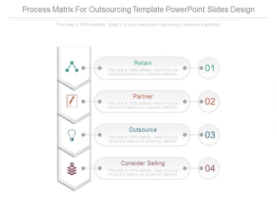 Process Matrix For Outsourcing Template Powerpoint Slides Design
