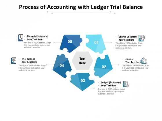 Process Of Accounting With Ledger Trial Balance Ppt PowerPoint Presentation Layouts Slide Portrait