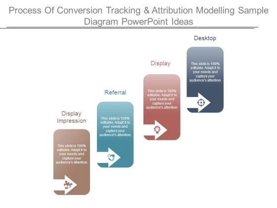 Process Of Conversion Tracking And Attribution Modelling Sample Diagram Powerpoint Ideas