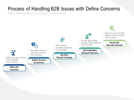 Process Of Handling B2B Issues With Define Concerns Ppt PowerPoint Presentation Infographics Show