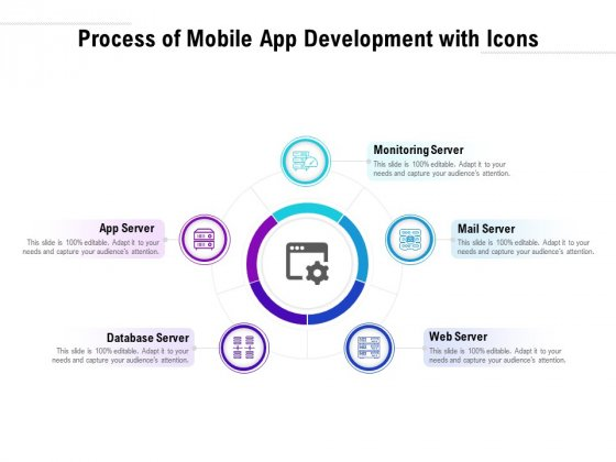 Process Of Mobile App Development With Icons Ppt PowerPoint Presentation Infographics Slides