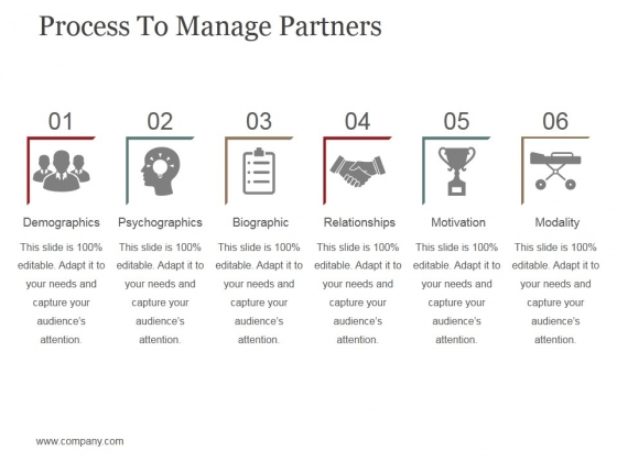 Process To Manage Partners Template 1 Ppt PowerPoint Presentation File Clipart Images