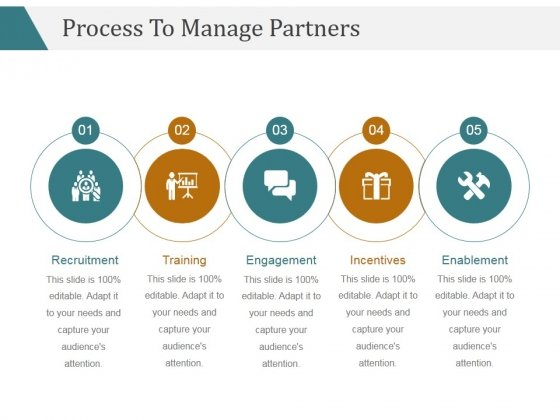Process To Manage Partners Template 2 Ppt PowerPoint Presentation Gallery