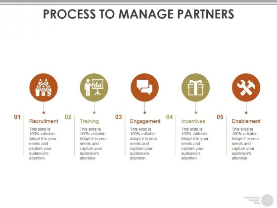 Process To Manage Partners Template Ppt PowerPoint Presentation Layouts Files