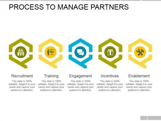 Process To Manage Partners Template Ppt PowerPoint Presentation Outline Visuals