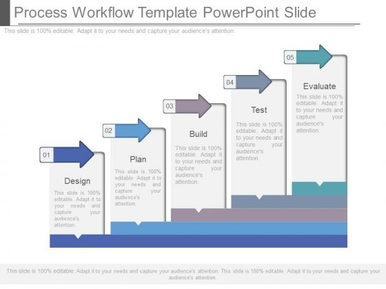 Process Workflow Template Powerpoint Slide