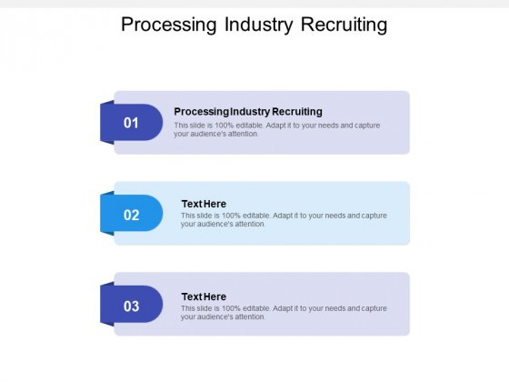 Processing Industry Recruiting Ppt PowerPoint Presentation Slides Portfolio Cpb Pdf