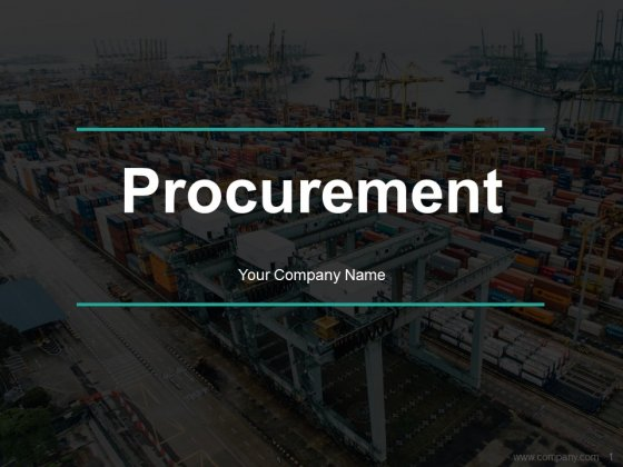 Procurement Ppt PowerPoint Presentation Complete Deck With Slides