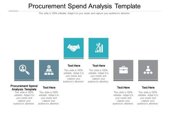 Procurement Spend Analysis Template Ppt PowerPoint Presentation Portfolio Clipart Cpb Pdf