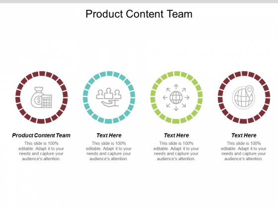 Product Content Team Ppt PowerPoint Presentation Layouts Inspiration Cpb