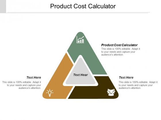 Product Cost Calculator Ppt Powerpoint Presentation Model Icons Cpb