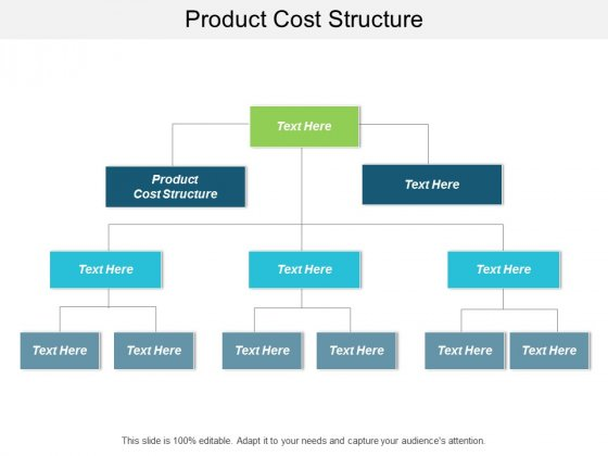Product Cost Structure Ppt Powerpoint Presentation Gallery Introduction Cpb