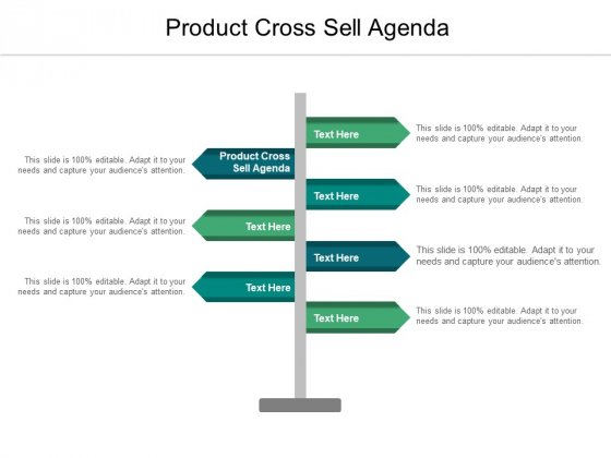 Product Cross Sell Agenda Ppt PowerPoint Presentation Model Diagrams Cpb Pdf