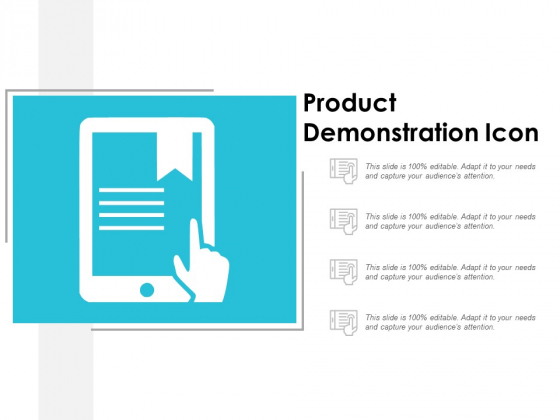 Product Demonstration Icon Ppt Powerpoint Presentation Layouts Format