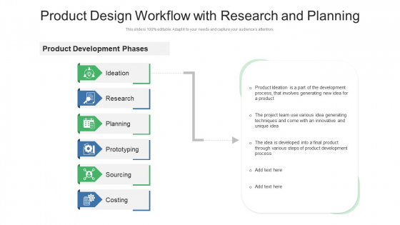 Product_Design_Workflow_With_Research_And_Planning_Ppt_PowerPoint_Presentation_Gallery_Information_PDF_Slide_1