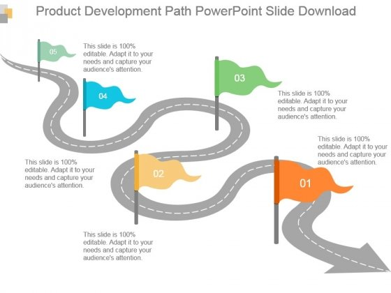 Product Development Path Powerpoint Slide Download
