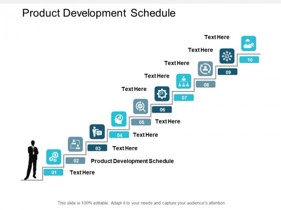Product Development Schedule Ppt PowerPoint Presentation Diagram Ppt Cpb