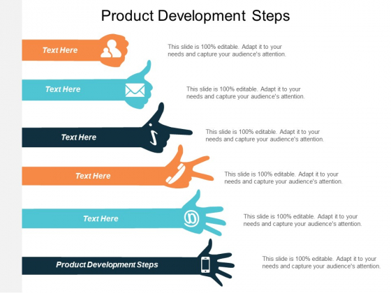 Product Development Steps Ppt Powerpoint Presentation Styles Design Templates Cpb