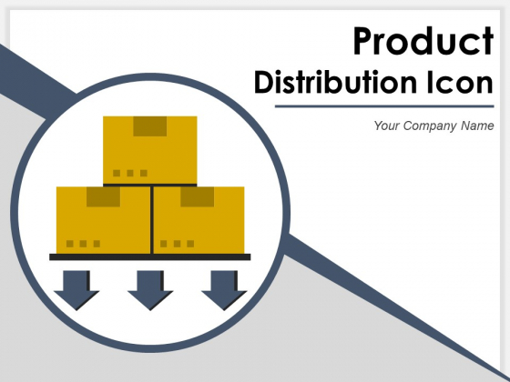 Product Distribution Icon Gear Arrow Ppt PowerPoint Presentation Complete Deck