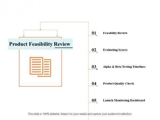 Product Feasibility Review Ppt PowerPoint Presentation Infographics Graphics Template