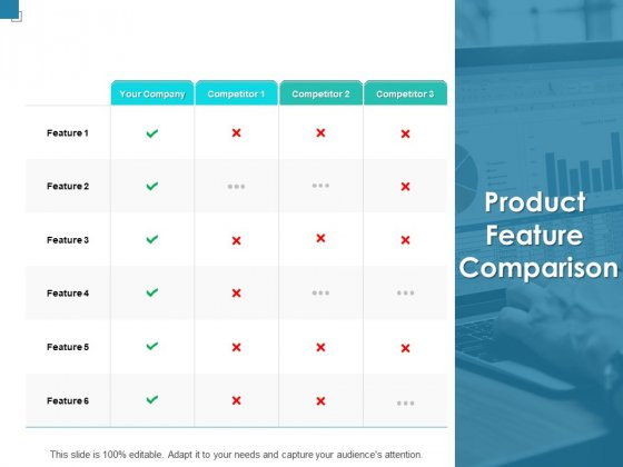 Product Feature Comparison Ppt PowerPoint Presentation Inspiration Shapes