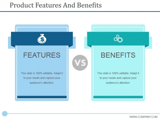 Product Features And Benefits Ppt PowerPoint Presentation Outline Microsoft