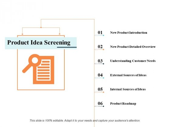 Product Idea Screening Ppt PowerPoint Presentation Portfolio Outline