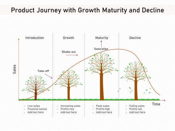Product Journey With Growth Maturity And Decline Ppt PowerPoint Presentation File Background Image PDF