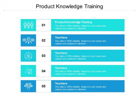 Product Knowledge Training Ppt PowerPoint Presentation Show Slides Cpb