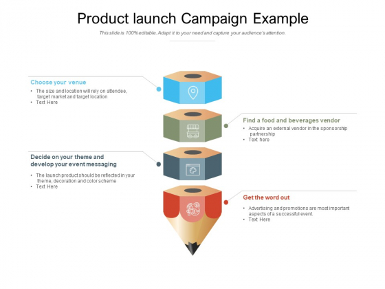 Product Launch Campaign Example Ppt PowerPoint Presentation Icon Slide Download