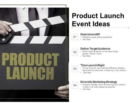 Product Launch Event Ideas Ppt PowerPoint Presentation Outline Styles