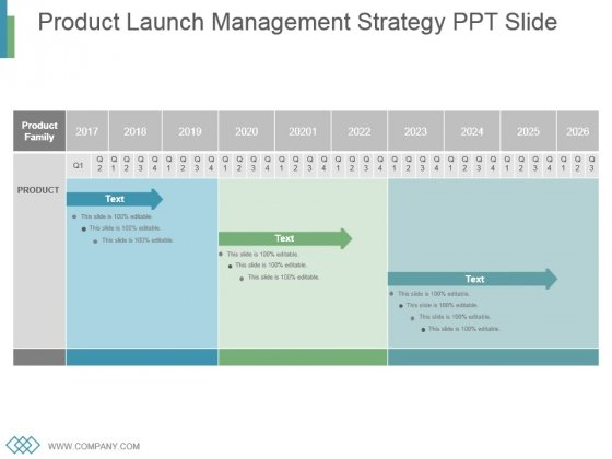 Product Launch Management Strategy Ppt Slide