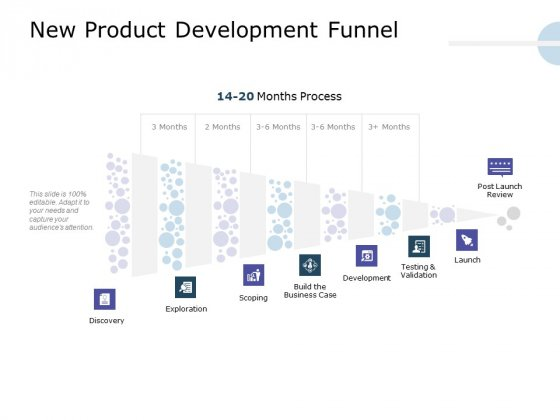 Product Launch Marketing Plan New Product Development Funnel Ppt Slides Icons PDF