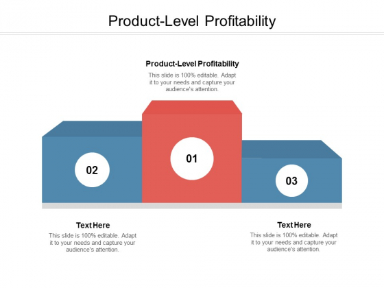 Product Level Profitability Ppt PowerPoint Presentation Inspiration Examples Cpb