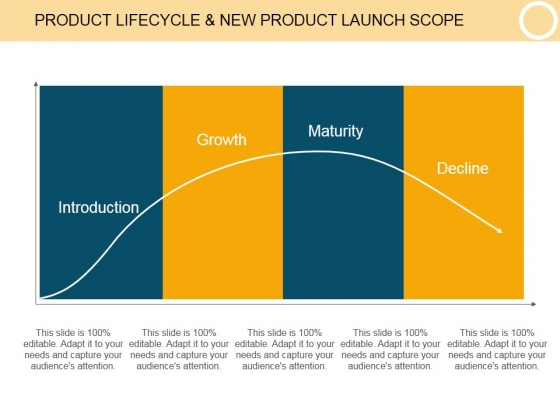 Product Lifecycle And New Product Launch Scope Template 1 Ppt PowerPoint Presentation Ideas